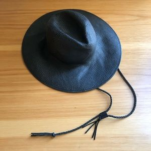 Madewell, Wide-Brimmed Straw Fedora  Leather Cord